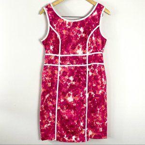 JESSICA Pink and White Tank Midi Dress